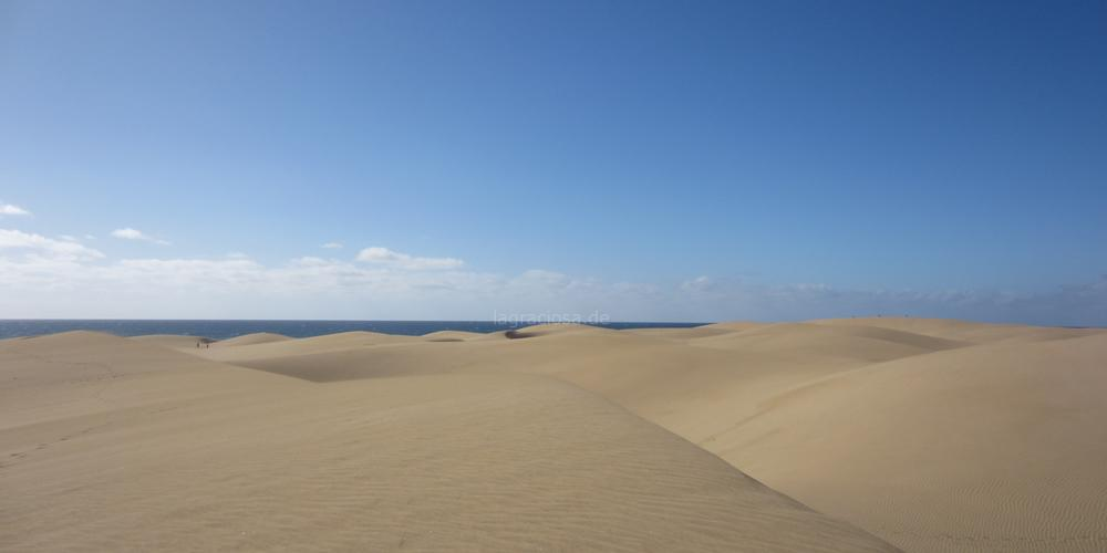 Die Kanarischen Inseln. Dünen bei Maspalomas auf Gran Canaria.