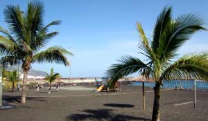 Playa de Bajamar. Auf diesem Foto ohne Schiff.