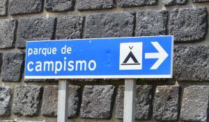 Camping auf Graciosa. Campingplatz bei Carapacho.