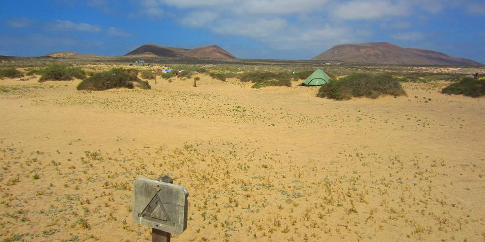 Campingplatz auf La Graciosa